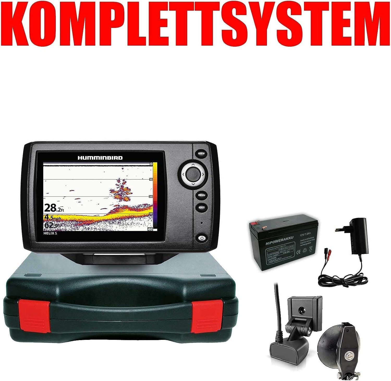Humminbird Echolot Fischfinder Portabel Basic Komplettsystem Helix 5 Sonar G2 Sport Freizeit