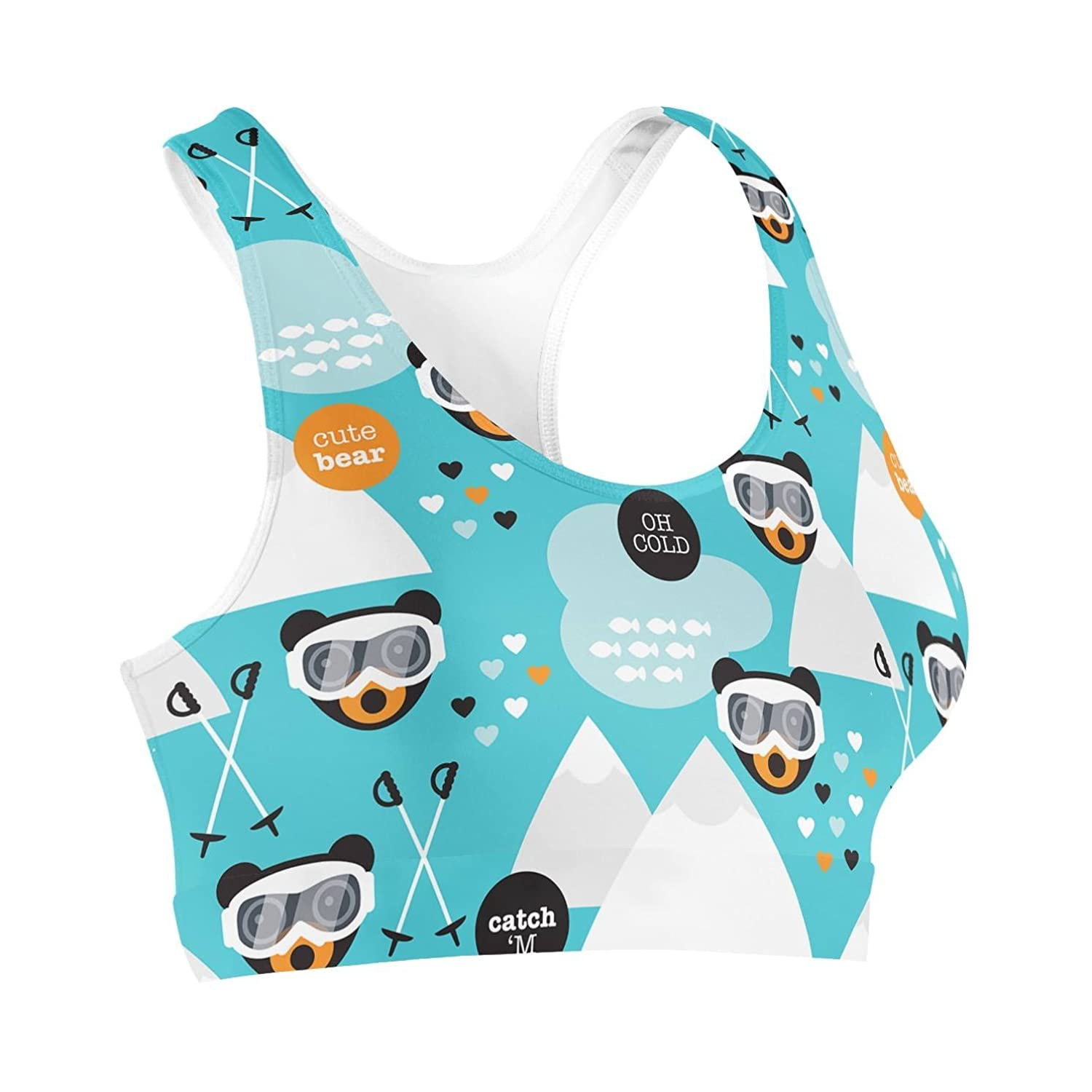 Ski Fun Bears Sports Bra Sport-BH XS-3XL