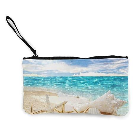 Serity Beach - Monedero de Lona para Mujer y niña, diseño de ...