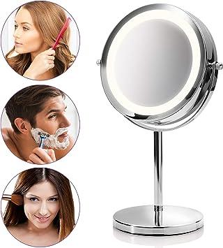 Medisana CM 840 Espejo de maquillaje redondo, Espejo de mesa con ...