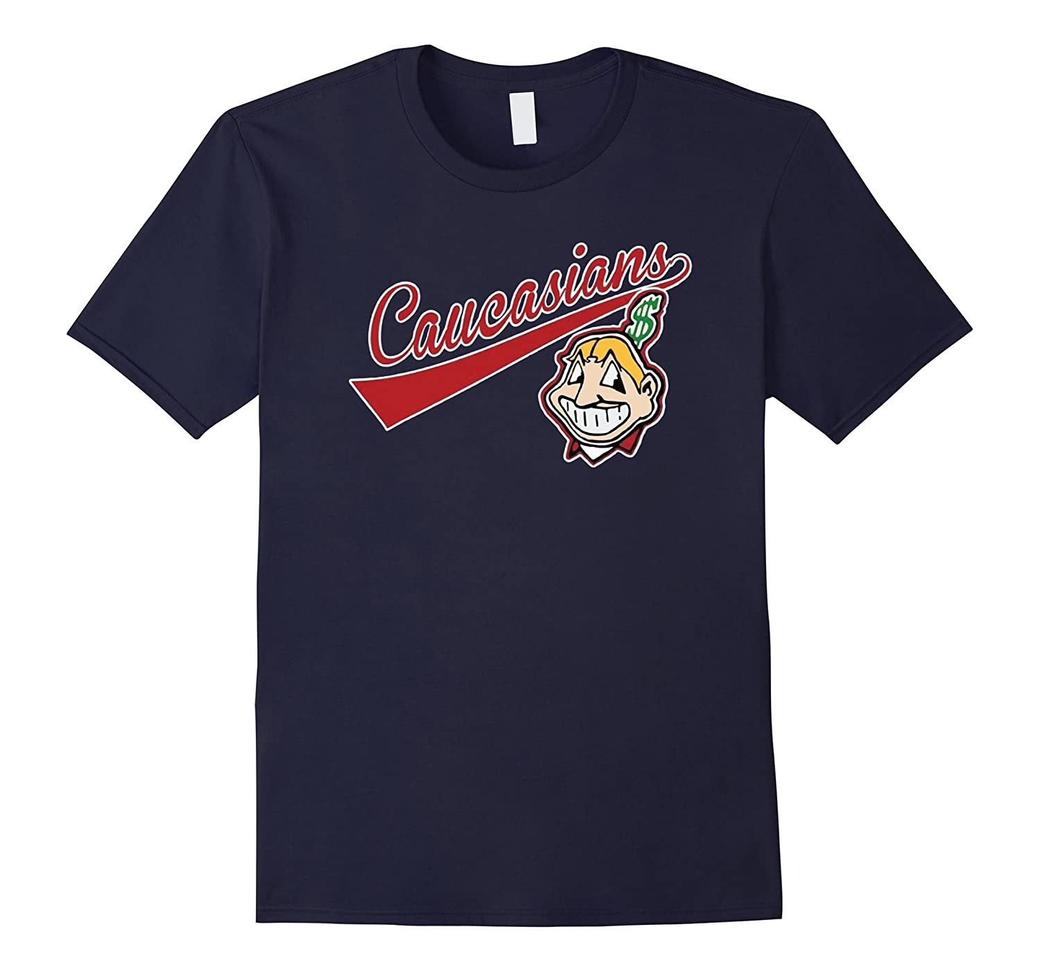 ON SALE  Cleveland Caucasians T-Shirt - Funny Parody Tee-RT