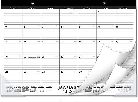 Amazon.com: Calendario de escritorio 2020 con protector ...