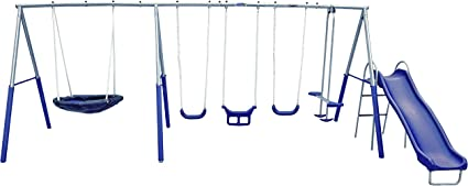 XDP Recreation Fun Forever Swing Set Gray
