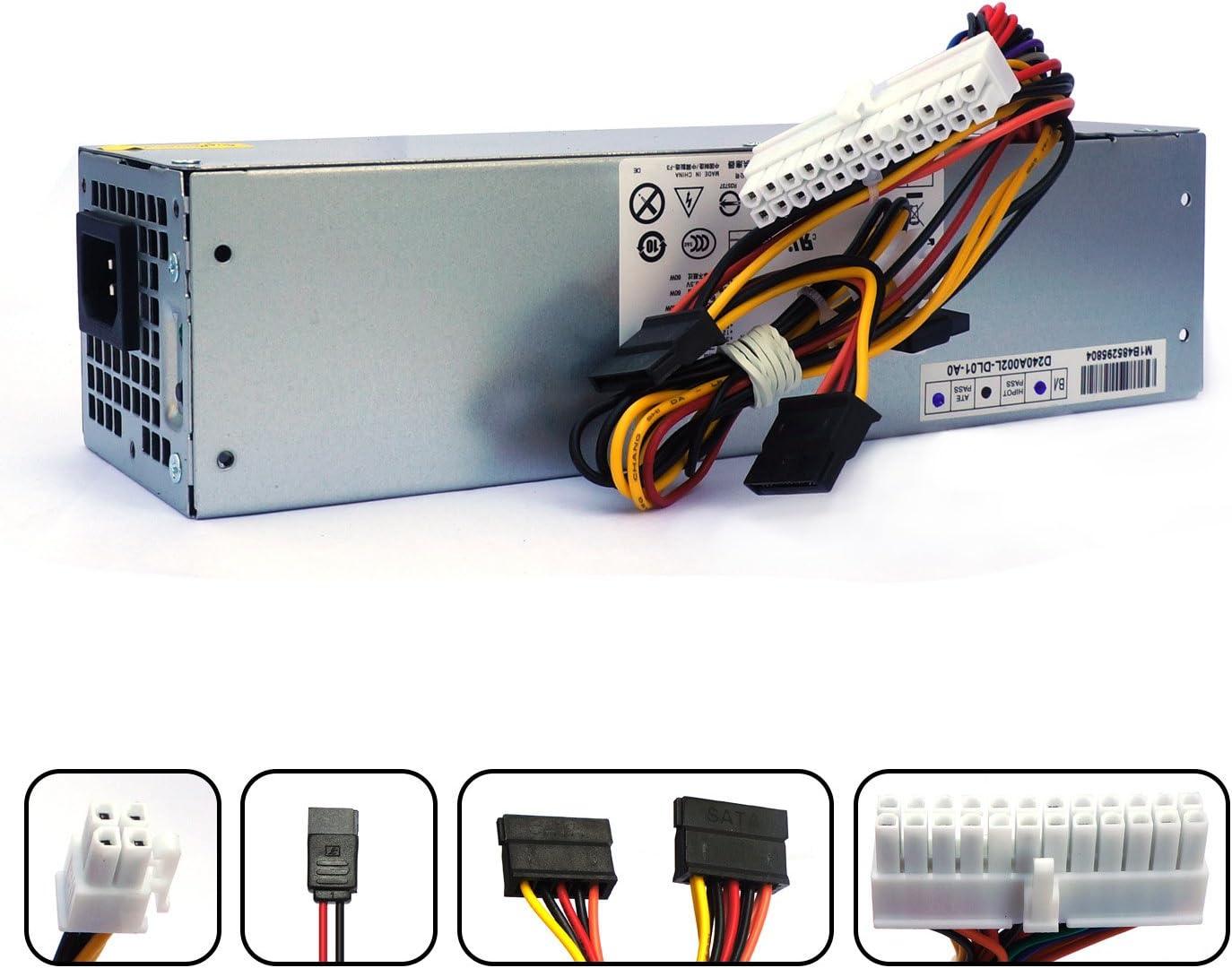 POINWER H240AS-01 2TXYM 3WN11 H240AS-00 709MT 240W Optiplex 7010 SFF Power Supply for Dell Optiplex 390 790 990 3010 9010 Small Form Factor Systems CCCVC 3RK5T F79TD L240AS-00 H240ES-00 D240ES-00