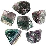 SUNYIK Natural Fluorite Quartz Crystal Point