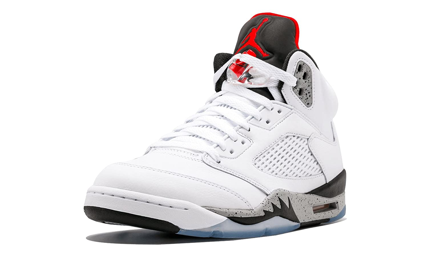 White University Red-black Nike Men's Air Jordan 5 Retro Basketball shoes