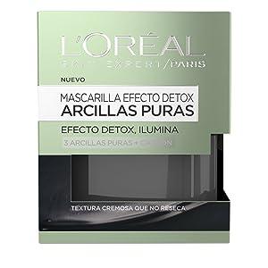 L'Oreal Paris Arcillas Puras Mascarilla Detox, Tono: Negra - Total: 50 ml
