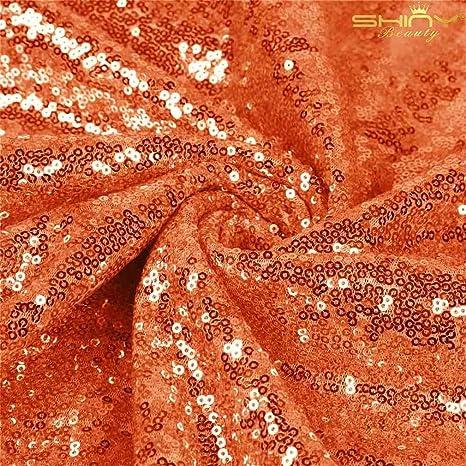 Orange Sequin Fabric SQO Orange Glitters Sequins Fabric by the Yard