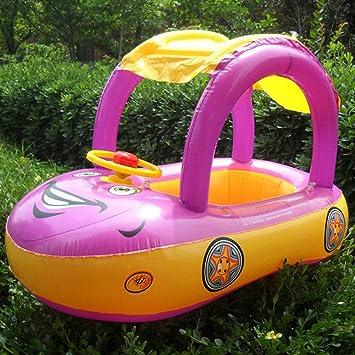 Flotador de bebé, hinchable, con diseño de coche, con cubierta de protección,