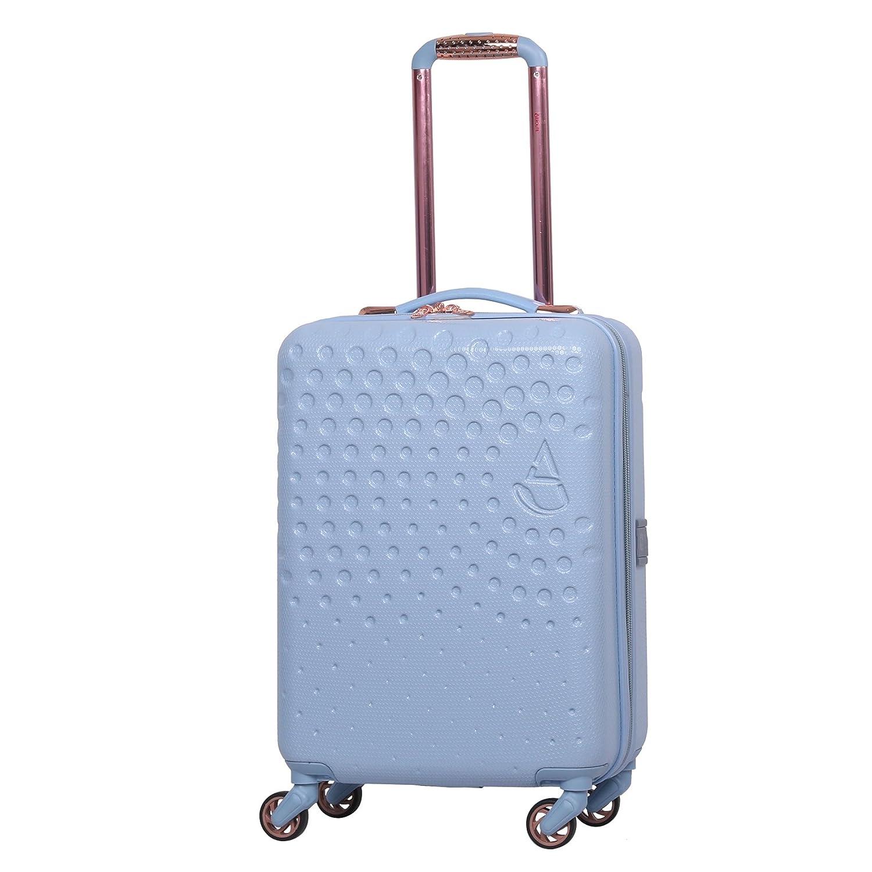 Aerolite ABS Bagage Cabine Bagage à Main Valise Rigide Légere à 4 Roulettes avec Port pour Chargeur Téléphone USB, Approuvé pour Ryanair, easyJet, Air France, KLM, Lufthansa, Vueling et Plus, Bleu