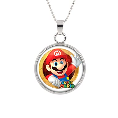 Amazon.com: Collar con colgante de Super Mario Brothers ...