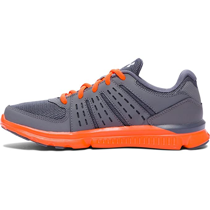 Under Armour Micro G Speed Swift scarpe da corsa bambini, Grigio/Arancione