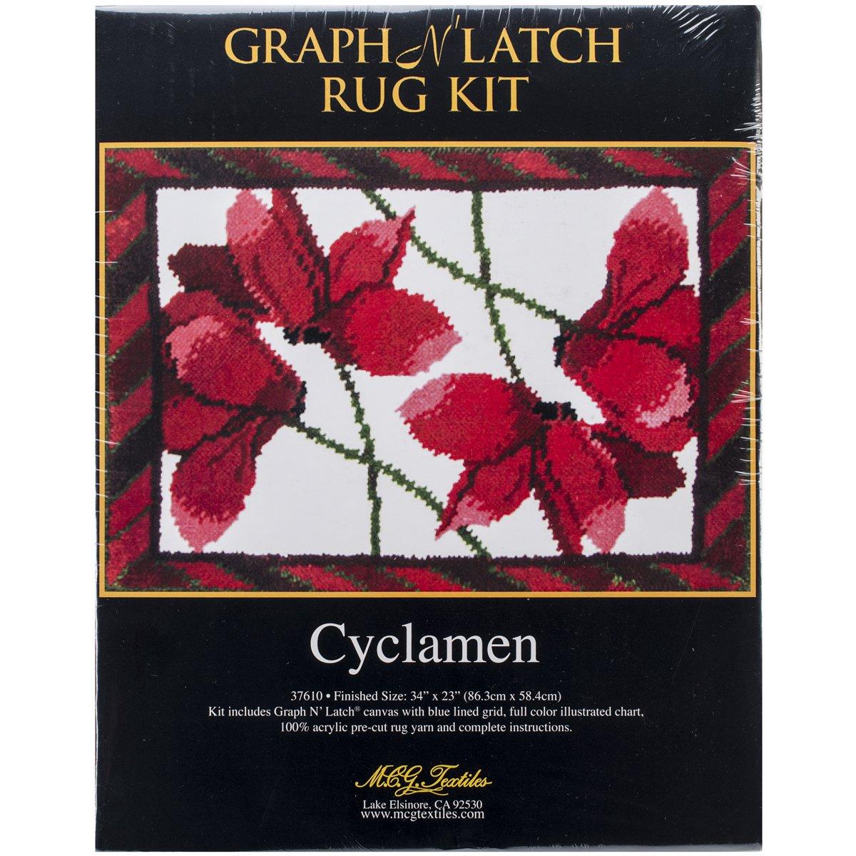MCG Textiles 37610 Cyclamen Latch Hook Rug Kit