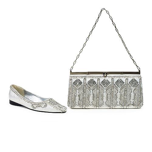 FARFALLA lusso scarpe, Argento (Silver), 36.5