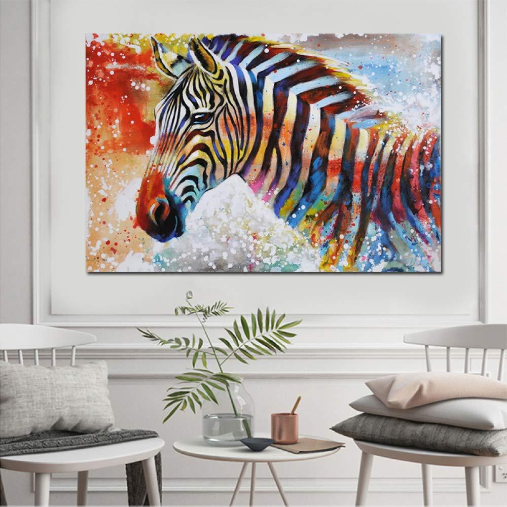 NIMCG Hermosa Cebra Cartel de Arte de Animales Salvajes ...