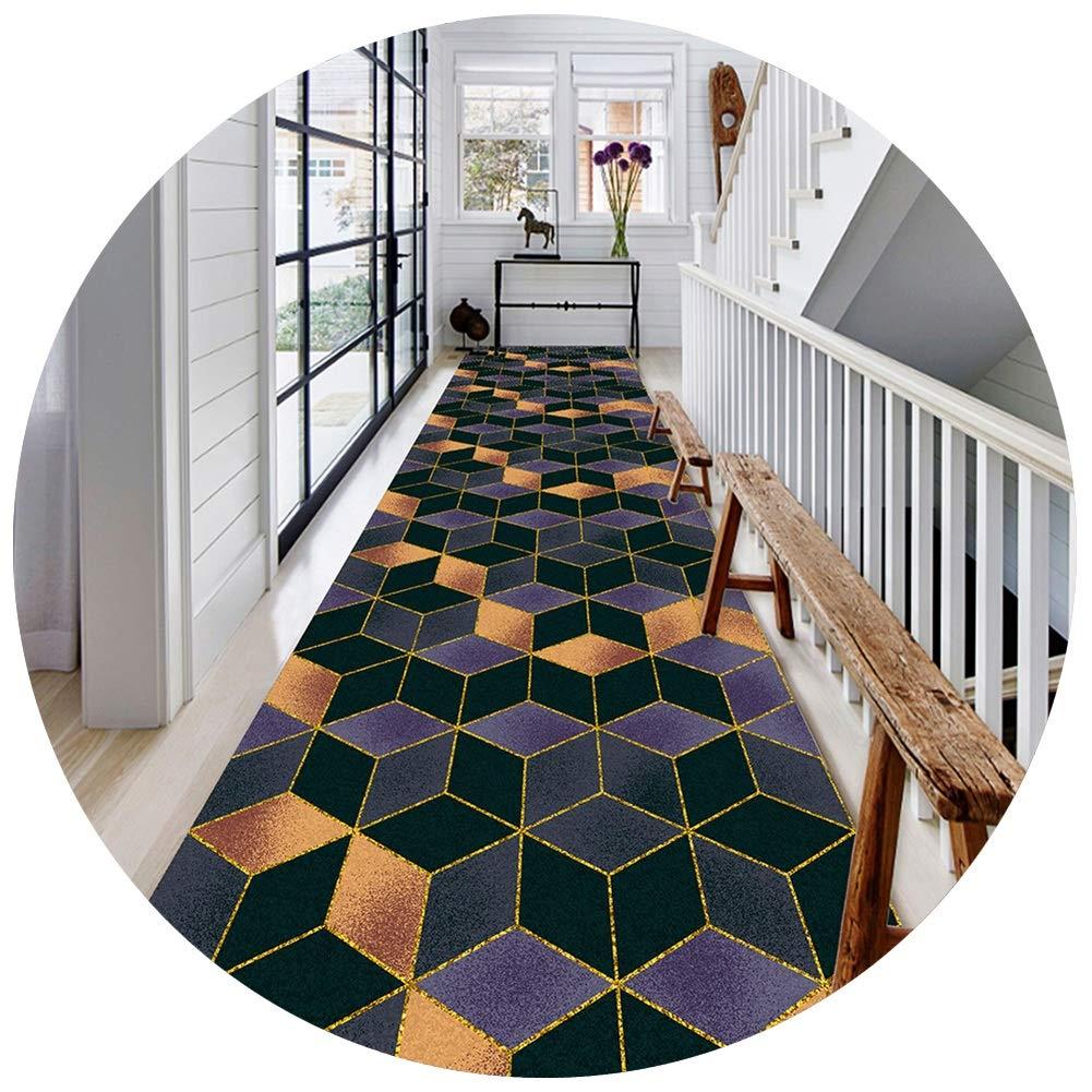 ZENGAI 廊下のカーペット ランナー ラグ 3D 立体視 ジオメトリ 廊下 通路 エントランス カーペット 丈夫 防汚 洗える お手入れが簡単 、 複数のサイズ (色 : B, サイズ さいず : 1.4x3m) B07S2Y5HTD B 1.4x3m