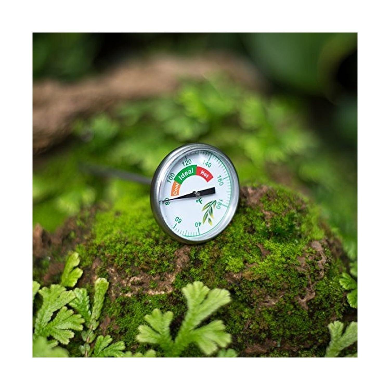 Termómetro de composta con folleto de instrucciones de EVERGREEN COMPOST se dedica a preservar la capa de ozono y construir jardines más verdes con ...