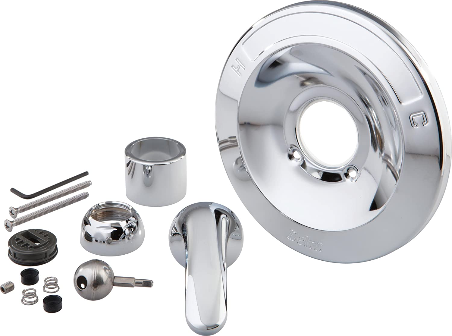 Delta RP54870 Renovation Kit - 600 Series Tub and Shower, Chrome ...