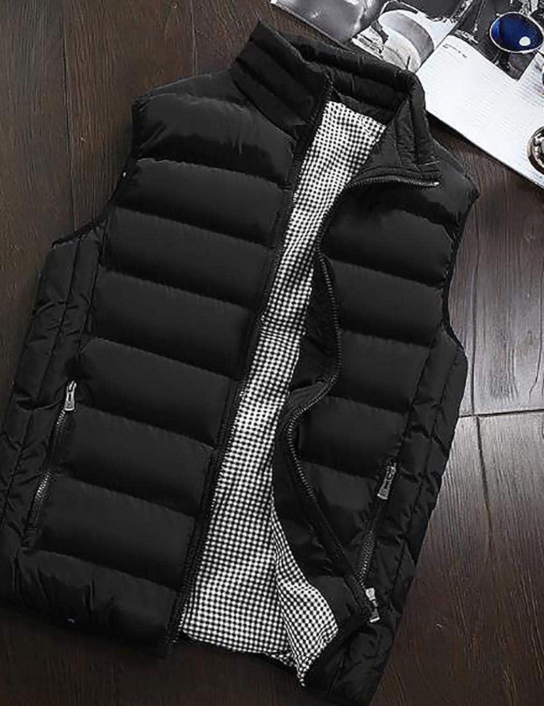 Gfone Autunno Inverno Spessa Maglia Uomini Senza Maniche Vestito Stand Gilet Tasca con Cerniera Gilet