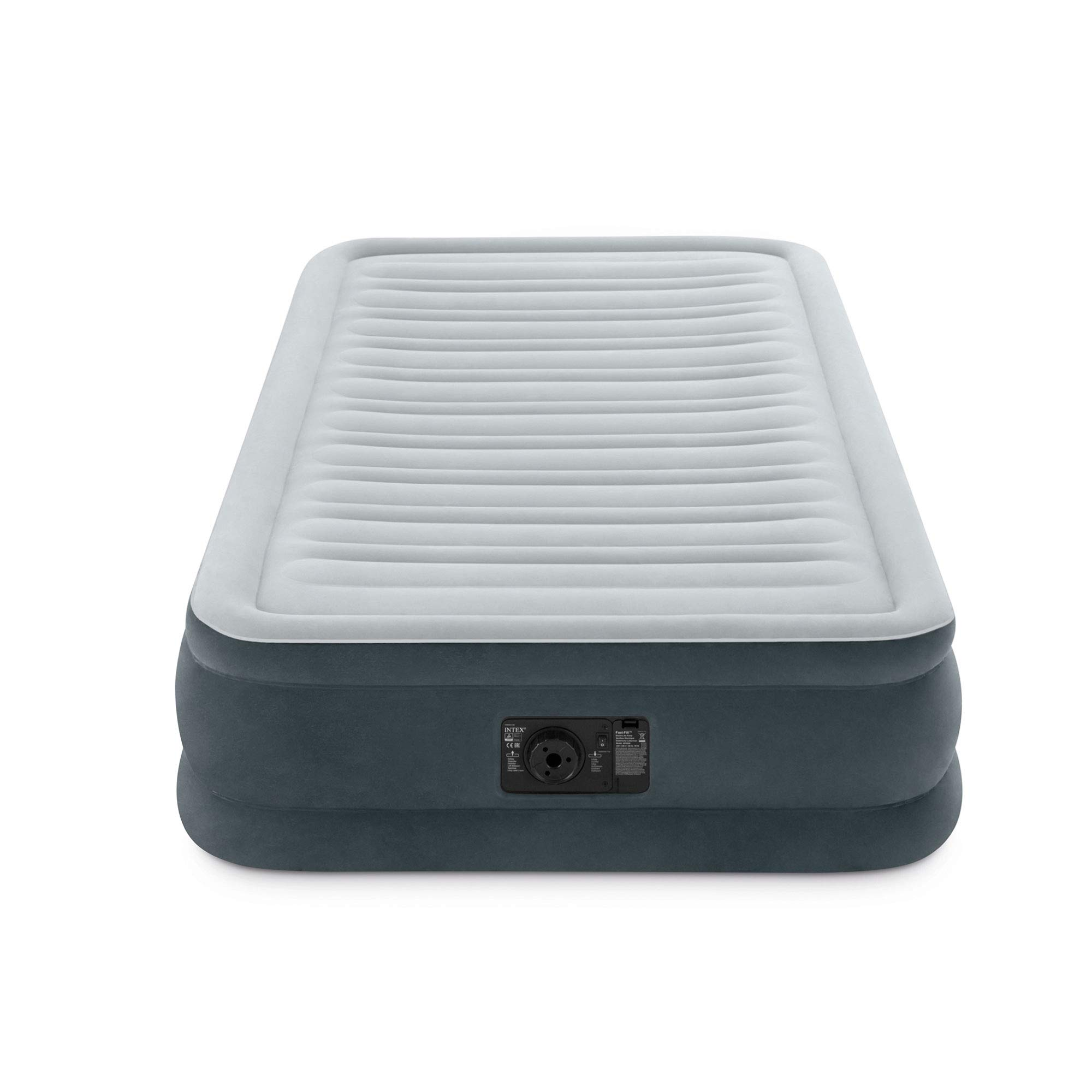 Intex Comfort Plush Mid Rise Dura-Beam Airbed with Internal Electric Pump, Bed Height 13'', Twin