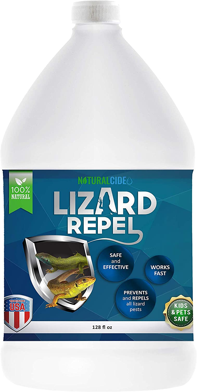 NaturalCide Lizard Repel (1 Gallon Refill), Lizard and Animal Spray, Safe and Effective Defense Solution, Easy-to-Use Spray, Lizard Blocker