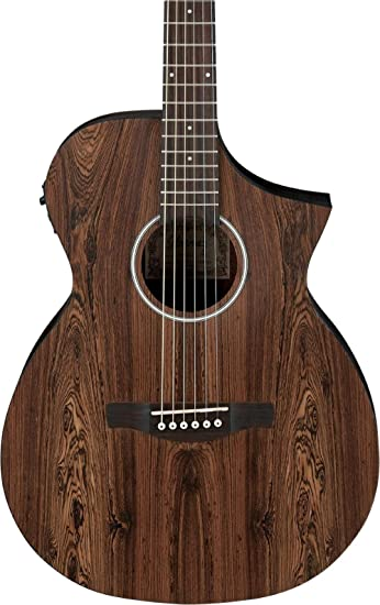 Ibanez Aewc31bc Bacote Exotic Wood Acoustic Electric Guitar Natural