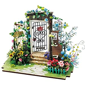 Rolife Dollhouse Kits to Build-Wooden Puzzle-Flower House-DIY Art House Crafts-Best Birthday for Girls Women Friends Mom Wife(Garden)
