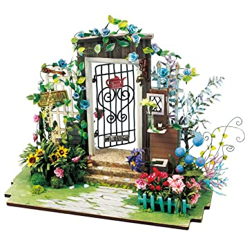 Amazon Com Rolife Dollhouse Kits To Build Wooden Puzzle Flower