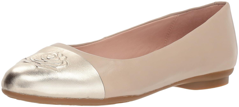 Taryn Rose Women's Annabella Ballet Flat B079WJ4MG8 8 M Medium US|Ceramic/Platinum