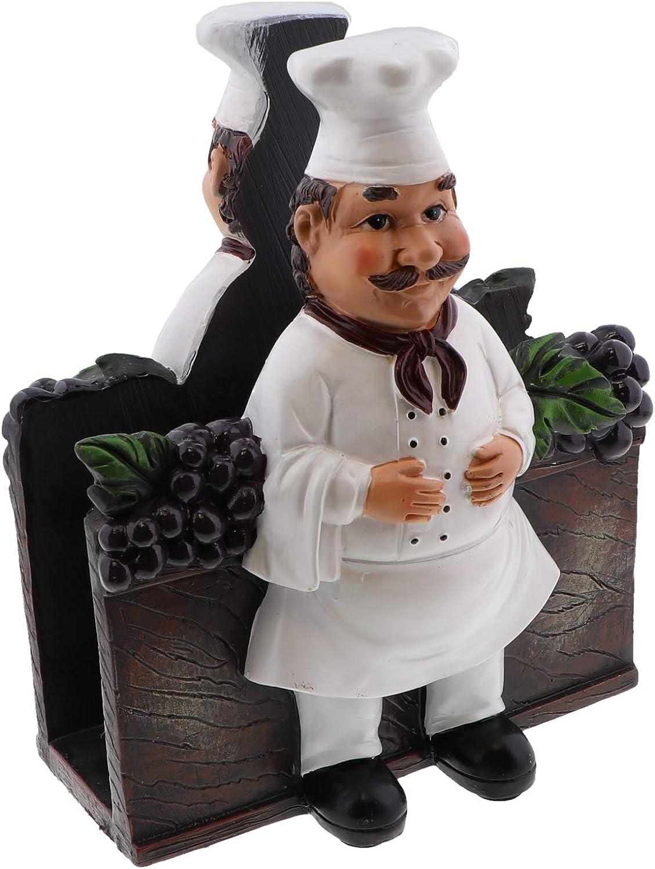 Fat Chef Figurine Napkin Holder Chef Kitchen Décor Collection