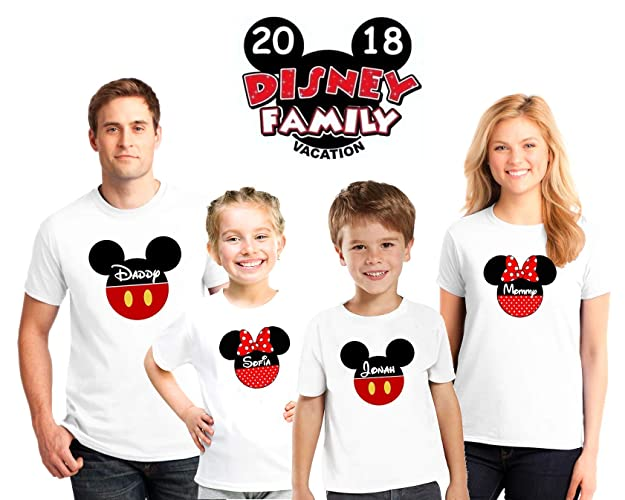 Amazon Disney Family Matching Custom Shirts Vacation ShirtsMickey Minnie Mouse Personalized Shirt For
