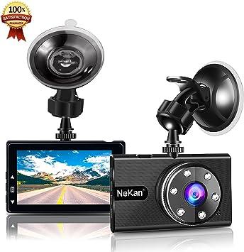 NeKan Dashcam 1080P FHD Dash Cam Cam/éra Embarqu/ée Voiture 3/' LCD WDR Vision Nocturne Dashcam HDR Cam/éra Enregistrement en Boucle,D/étection de Mouvement,Surveillance Parking
