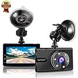 Dashcam,NeKan 1080P Autokamera,Auto DVR Dashboard Camera,170° Weitwinkelobjektiv,3 Zoll LCD-Bildschirm,WDR,Bewegungserkennung,Parkmonitor,Loop-Aufnahme,Nachtsicht und G-Senso