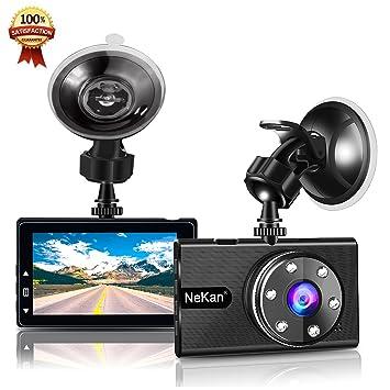 """Cámara De Coche,NeKan 1080P Dash Cam,170° Pantalla 3"""" LCD Camara"""