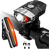 HODGSON Rechargeable LED Bike Lights Set, Headlight Taillight Combinations LED Bicycle Light Set, Super Bright, Splash-proof