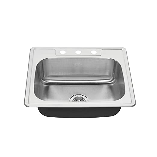 American Standard 22SB.6252283S.075 Colony Top Mount ADA 25x22 Single Bowl  Stainless Steel 3-hole Kitchen Sink