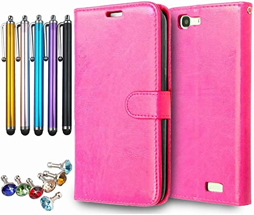 LEMORRY Huawei Ascend G7 / G7-L01, G7-L03 Case, Unique Soft TPU Core PU Leather Wallet [Card Slots] & [Picture Frame] Flip Flap Stand Magnetic Cover ...