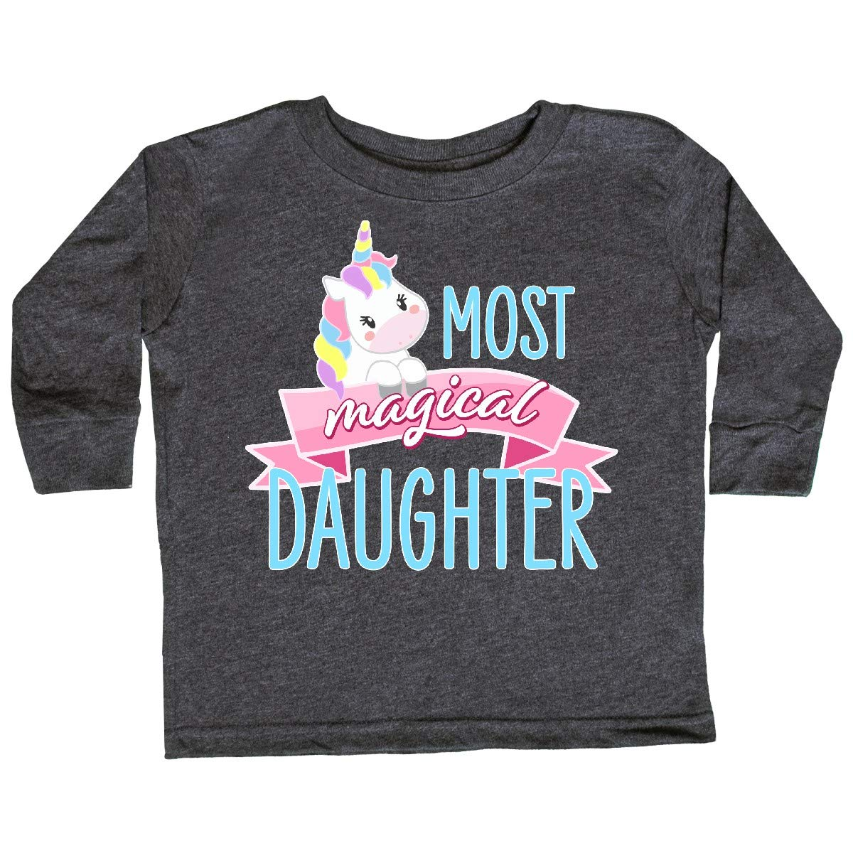 Cute Unicorn Toddler Long Sleeve T-Shirt inktastic Most Magical Daughter