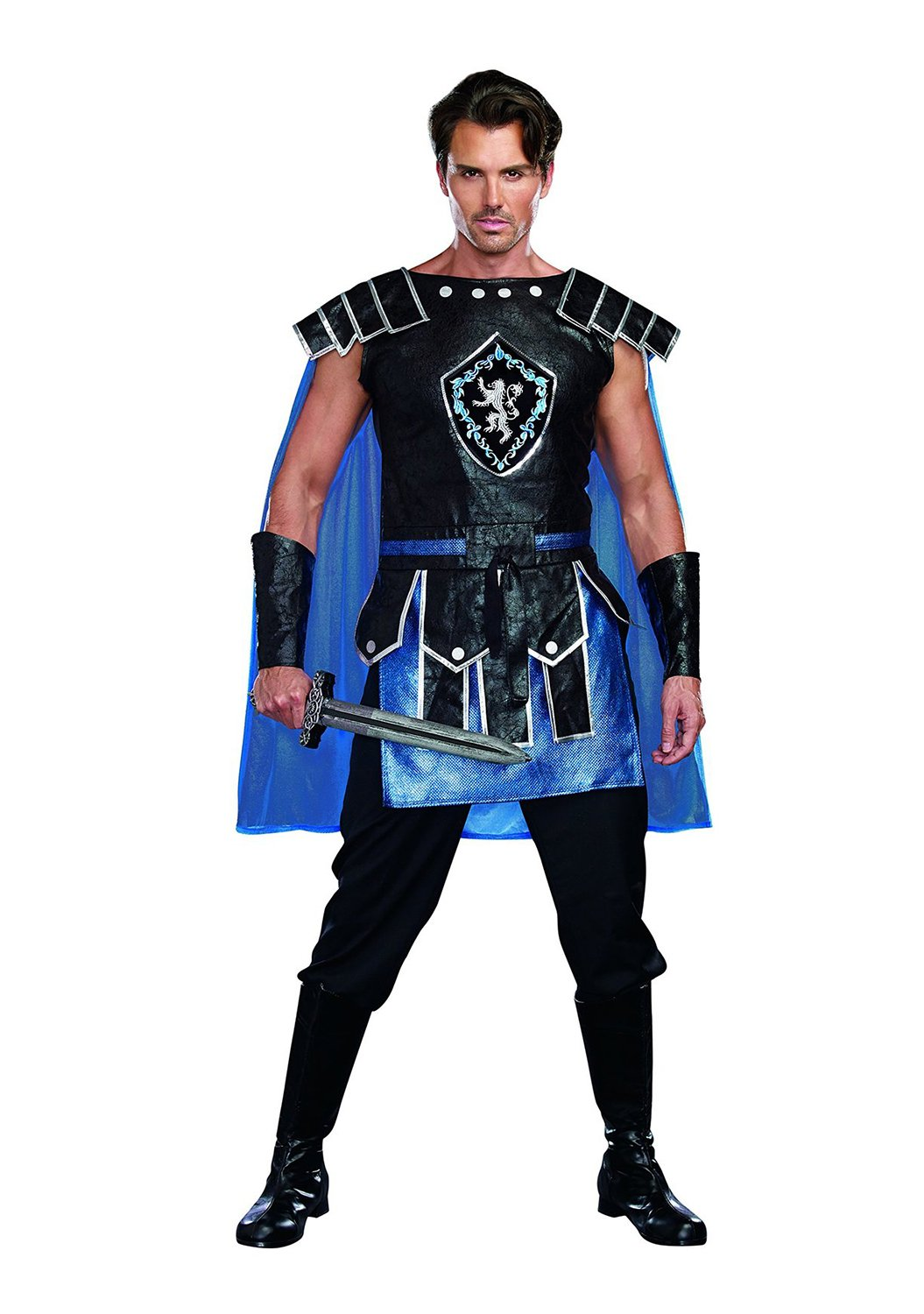 Dreamguy by DG Brands Men's Warrior Costume, King Slayer Male, Blue, XX-Large