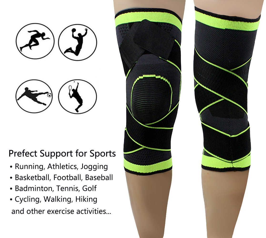 1dafbf8da4 ... Compression Breathable Knee Sleeve with Adjustable Strap Knee larger  image