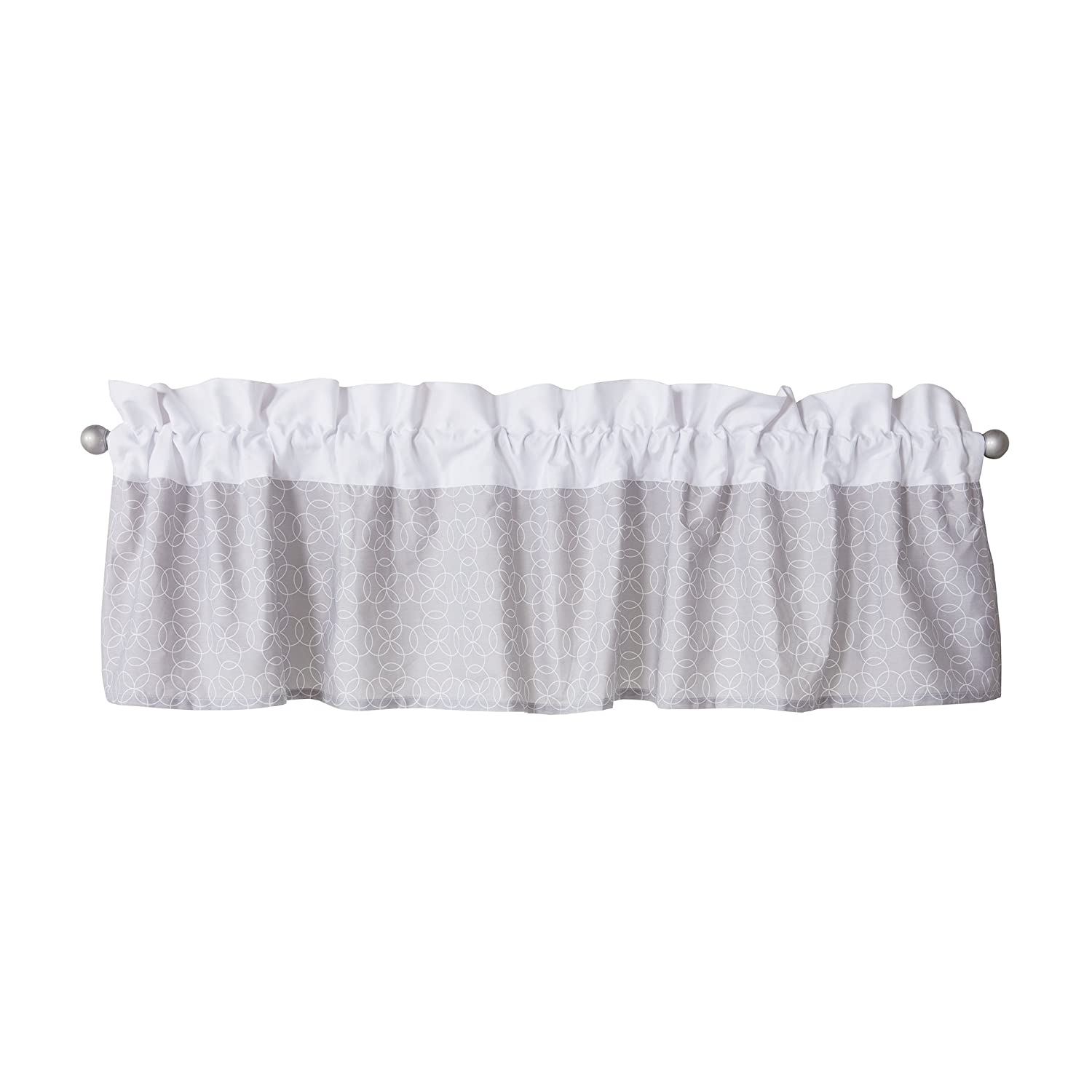 Trend Lab Window Valance, Gray and White Circles 101124