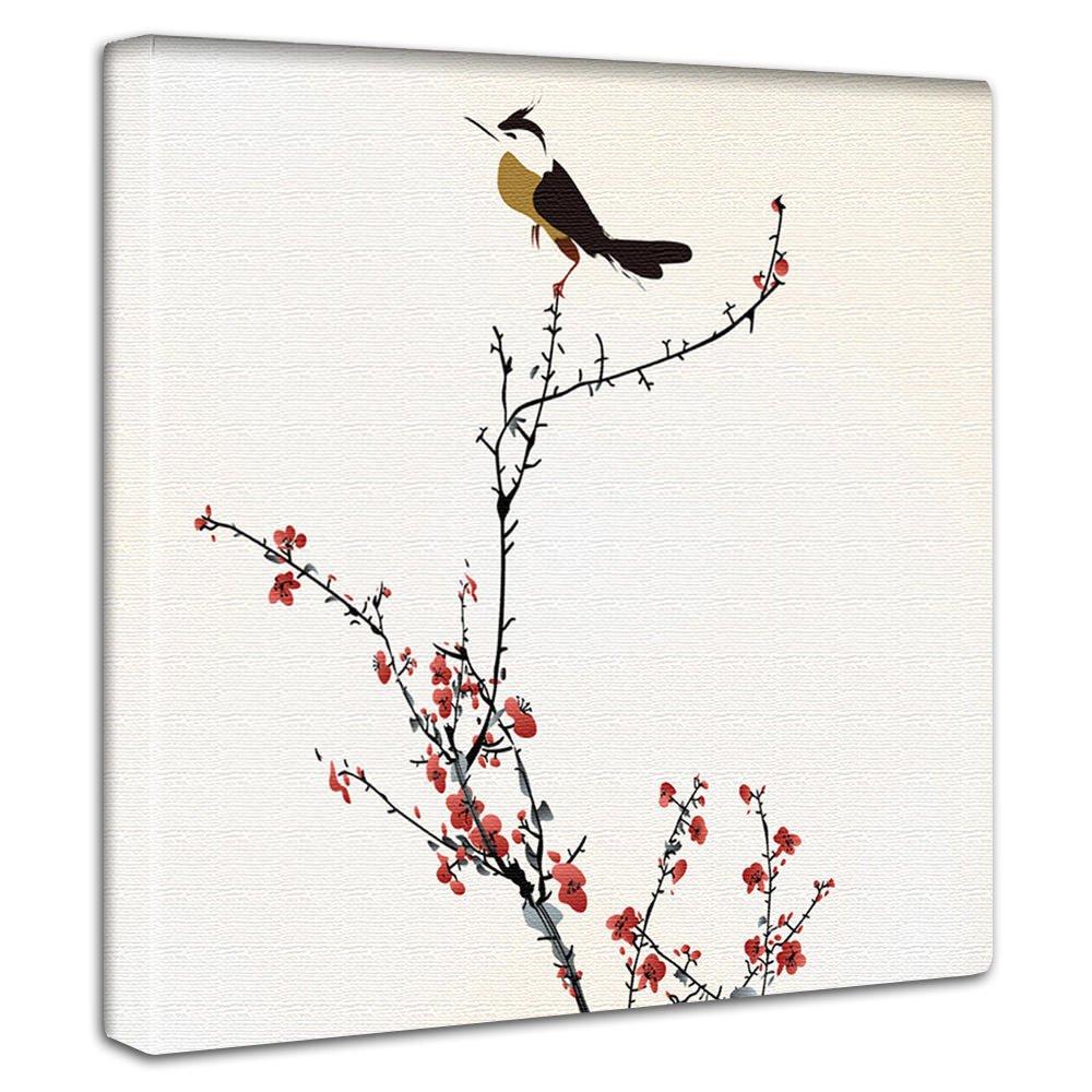 【アートデリ】梅の花とうぐいすのファブリックボード pop-0036-L Lサイズ B00W9P01XULサイズ(57×57cm)
