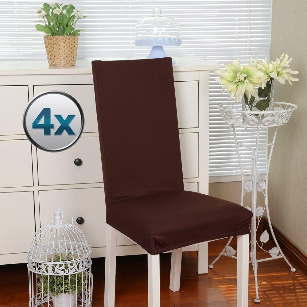 Fundas para sillas Pack de 4 Fundas sillas Comedor, Lavable ...