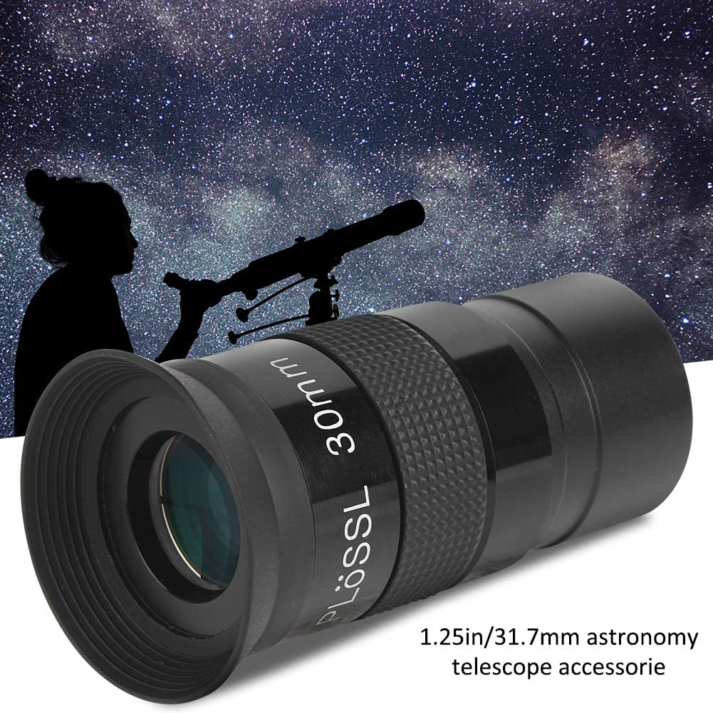 Vbestlife 30mm Focal Length Plossl Eyepiece 1.25in//31.7mm Thread Universal Monocular Eyepiece Accessory for Astronomical Telescope