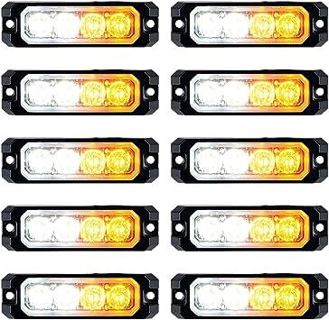 COB LED 20W Amber/&White Emergency Hazard Strobe Beacon Caution Warn Light Bar#98
