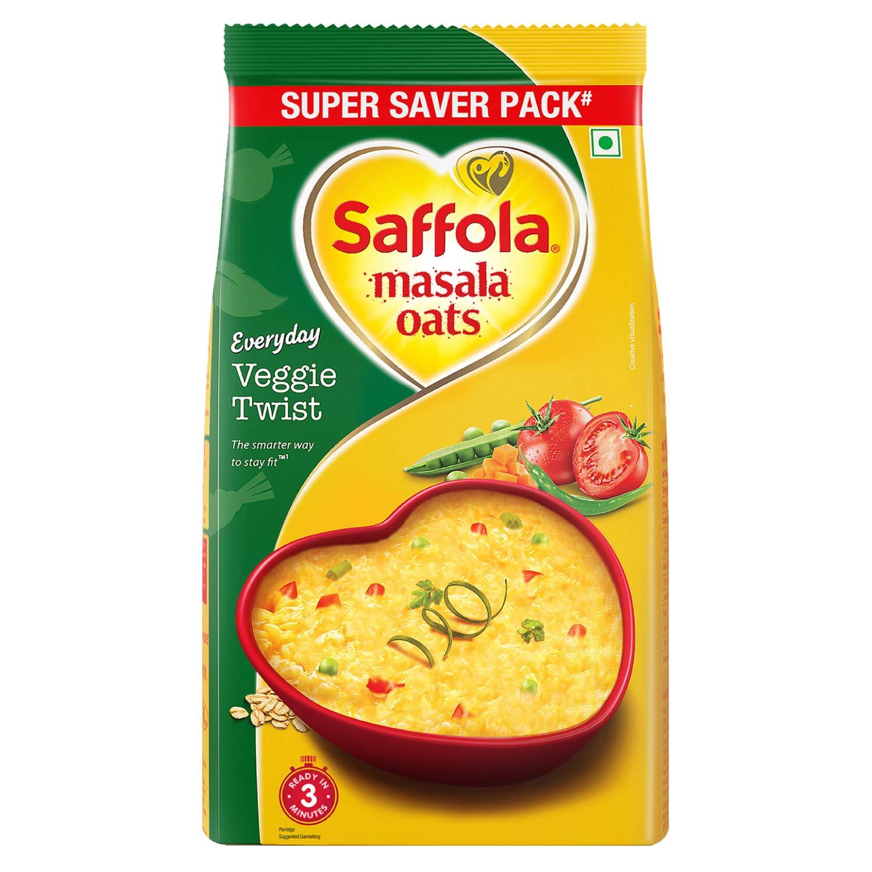 Saffola Masala Oats Veggie Twist, 500 grams (17.63 oz) - Vegetarian
