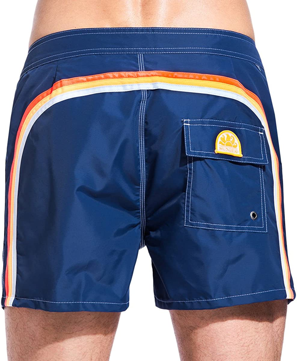Sundek Hommes shorts de bain de faible hauteur Marine