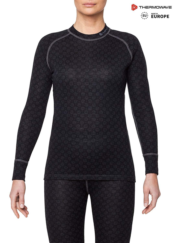 b1e8d5751569 Amazon.com: Thermowave - Merino Xtreme/Womens Merino Wool 200 GSM Thermal  Underwear Shirt: Sports & Outdoors