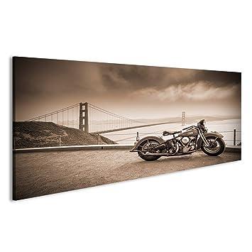 Harley V3 Chopper 1P Bild auf Leinwand Wandbild Poster Kunstdruck Bilder