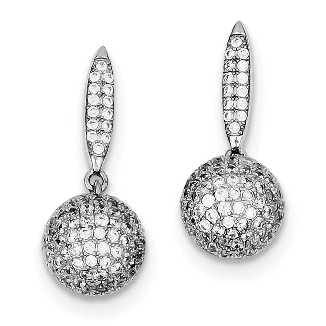 ICE CARATS 925 Sterling Silver Micro Drop Dangle Chandelier 3 D Ball Post Stud Earrings Fine Jewelry Gift Set For Women Heart